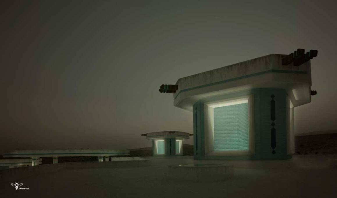 بادگیرهایی موسیقیایی رستوران های نوای کویر طراحی شده توسط استودیو معماری دیدآ