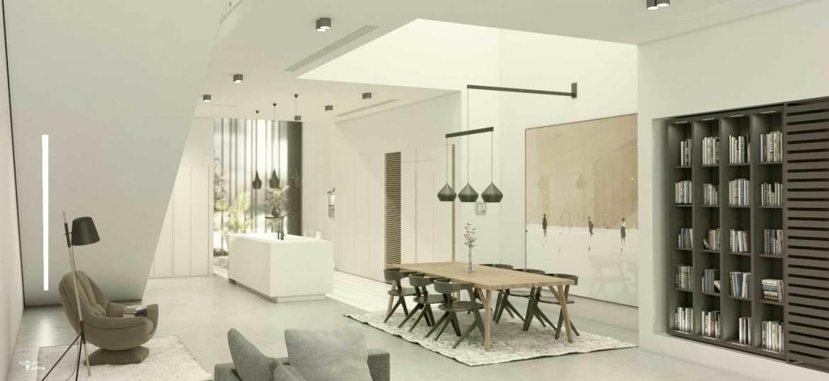 بخش ناهارخوری و آشپزخانه ی مدرن در طراحی معماری استودیو معماری دیدآ