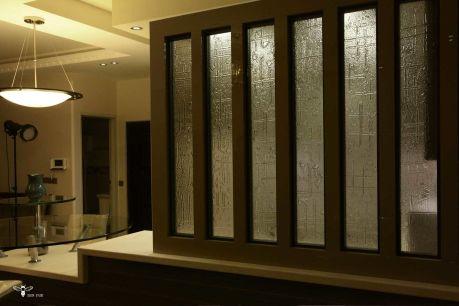 شیشه ی فیزینگ گلس برنزی طراحی شده جهت پرایوسی ( استودیو معماری دیدآ )