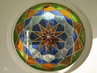 طراحی و ساخت شیشه ی دایره ایی سند بلاست - استودیو معماری دیدآ