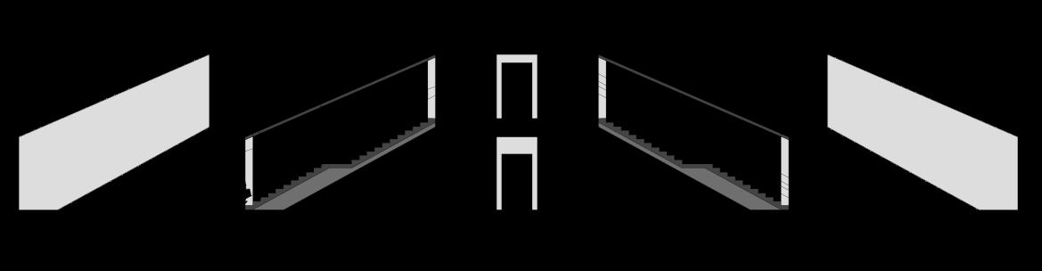 پلان راه پله ی مدرن طراحی شده توسط استودیو معماری دیدآ