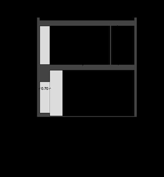استودیو معماری دیدآ - پلان برش - طراحی معماری خانه ایی برای یک خانواده