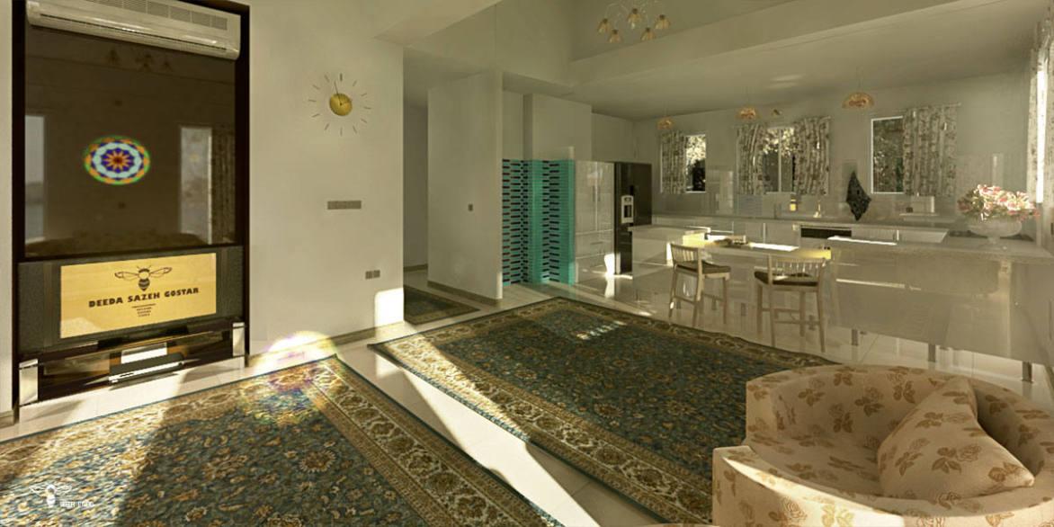 رندر طراحی ویلایی طراحی شده توسط استودیو معماری دیدآ