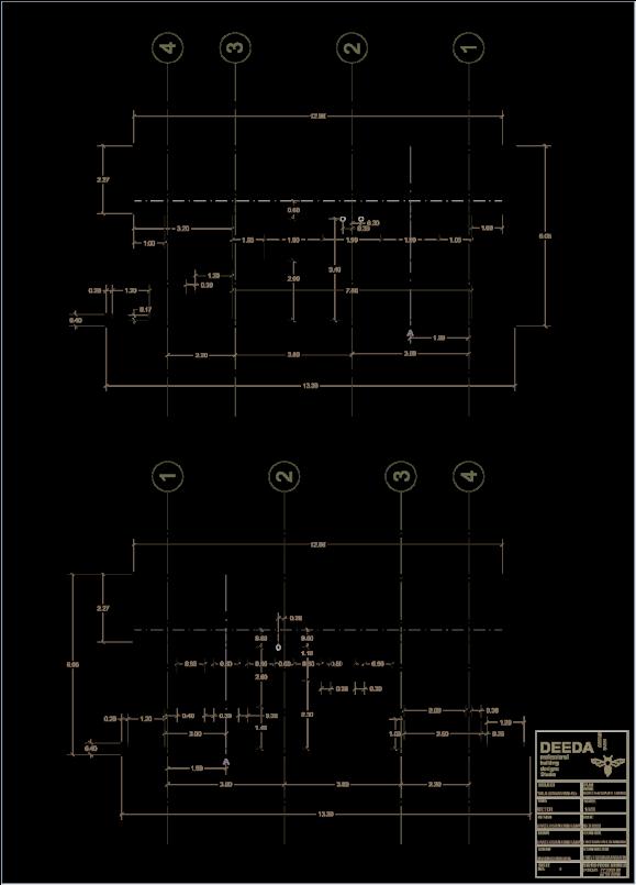 نقشه ی نمای ویلایی در شمال استودیو معماری دیدآ