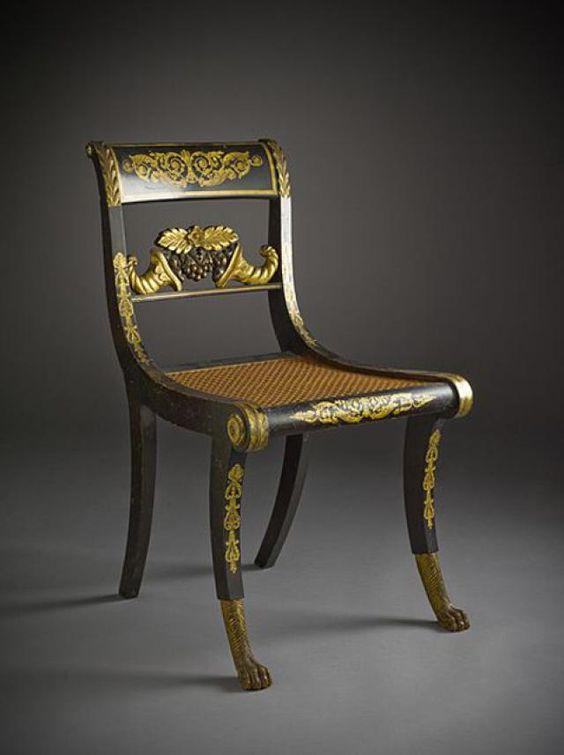 صندلی یونانی با پایه های طرح شیر