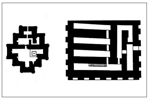 تپه نوشیجان، نقشه ساختمان