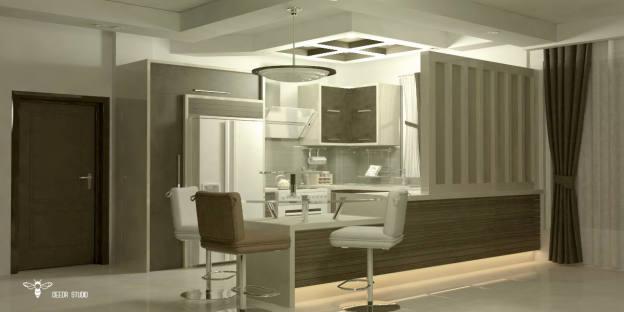 رندر طراحی کابینت آشپزخانه ( استودیو معماری دیدآ )