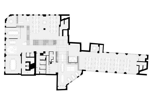 نمای سه بعدی داخلی یک ساختمان اداری