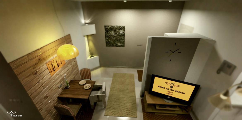 نمای ورودی ، tv و ناهارخوری ( استودیو معماری دیدآ )